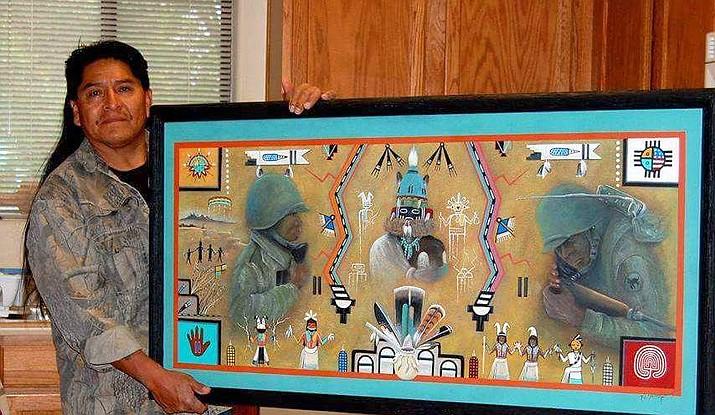 Hopi artist Fil Kewanyama presents his program today.