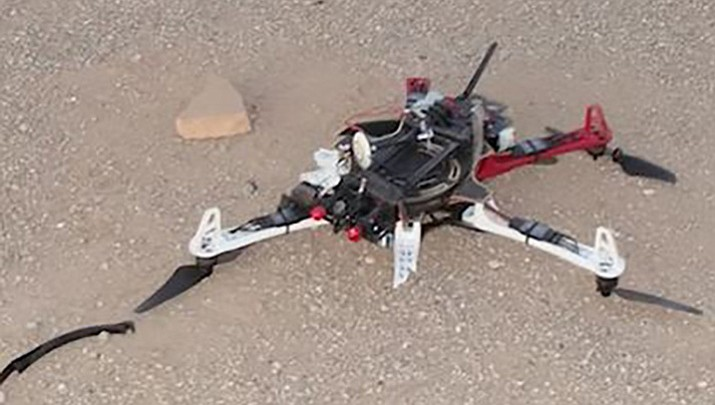 This is the drone that crashed in Arizona State Prison-Complex Lewis trying to deliver marijuana and cellphones in September.