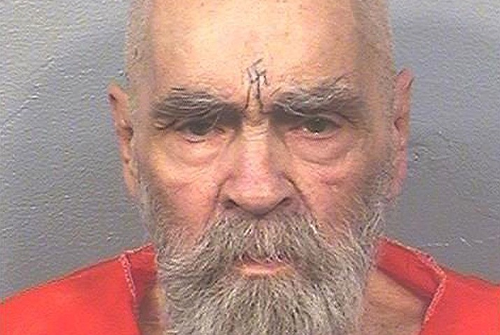This Aug. 14, 2017 photo provided by the California Department of Corrections and Rehabilitation shows Charles Manson. Authorities say Manson, cult leader and mastermind behind 1969 deaths of actress Sharon Tate and several others, died on Sunday, Nov. 19. He was 83. (California Department of Corrections and Rehabilitation via AP, File)