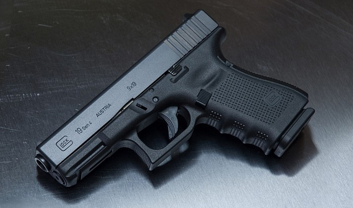 The handgun is described as a Glock 19, 9mm caliber and black in color, serial number YHC 944. (PVPD)