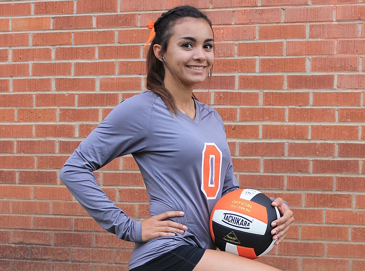 Viking Destinee Pennington was selected Defensive Player of the Year for the 1A Central Region in volleyball.