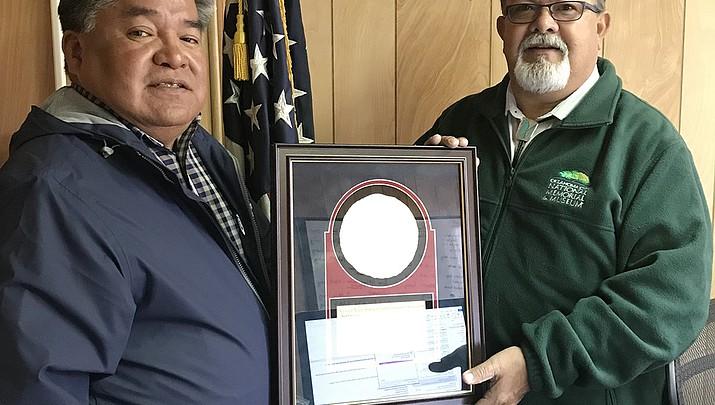 Jesse Delmar wins National Native American Law Enforcement award