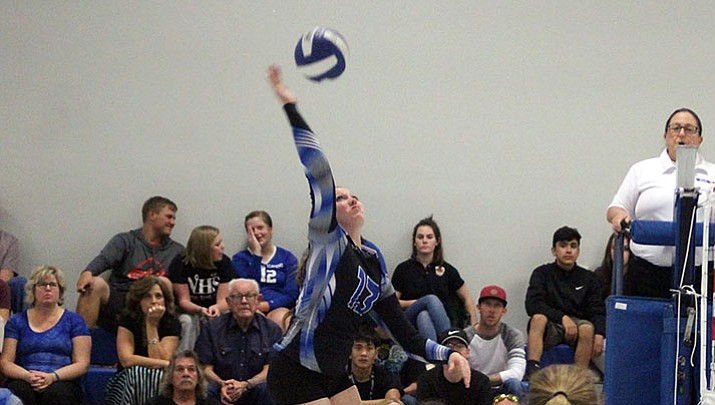 Kingman Academy's Aspen Jackson Jackson concluded her prep career by tallying 167 kills, 152 digs and 13 blocks.