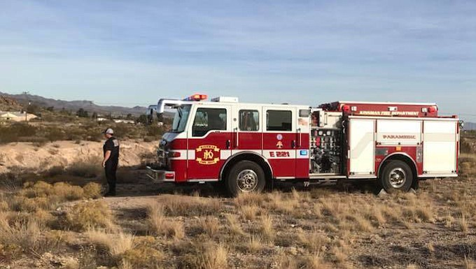 Kingman Fire Department was called to the bridge over Hualapai Mountain Road where a man was suspected to have jumped down to the train tracks 40 to 50 feet below Tuesday.
