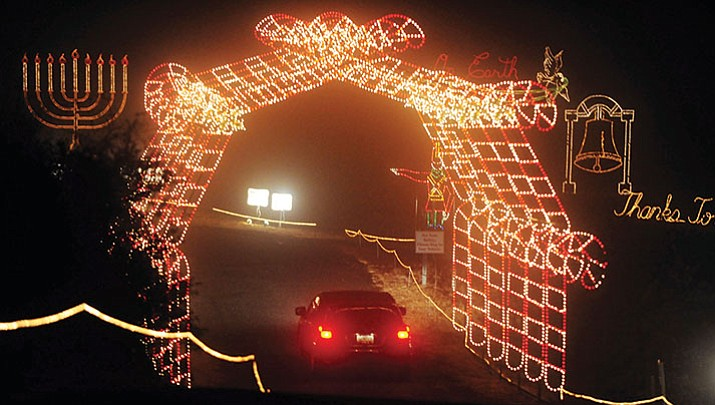 Valley of Lights is underway in Prescott Valley (look for the toy soldier on Highway 69 pointing the way). On Nov. 28, you can stroll the display.