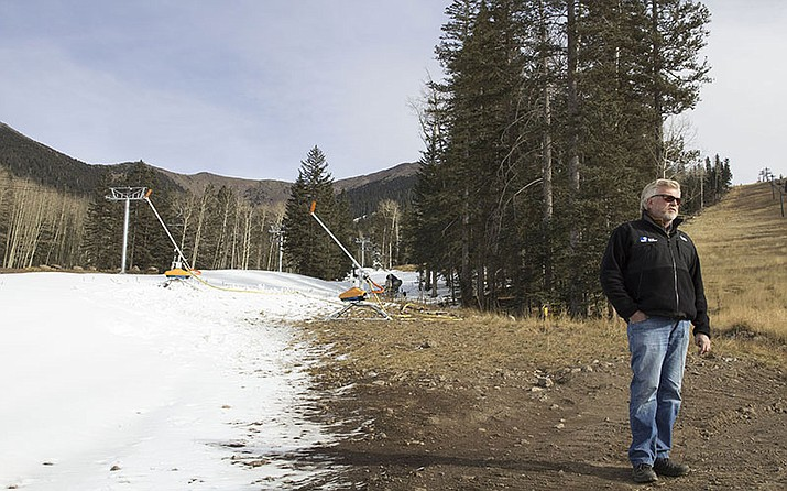 J.R. Murray, general manager of Snowbowl ski resort, said snow-making machines guarantee an early start to the ski and snowboard season.