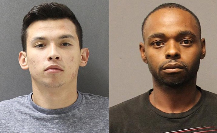 Anthony Villa, 19, (left) and Jimmy Mosley, 31, were arrested on Oct. 31 and charged with transporting drugs. (Yavapai County Sheriff's Office)