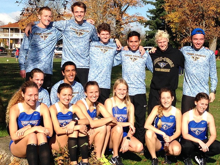 The Embry-Riddle men's and women's cross-country team poses for a photo after taking part in the 2017 NAIA Cross-Country National Championships on Nov. 18 in Vancouver, Washington. The women finished 14th overall with 434 total team points, while the men took 21st overall with 109 total points. There were 338 total runners at the national event. (Chris Bray/Courtesy)