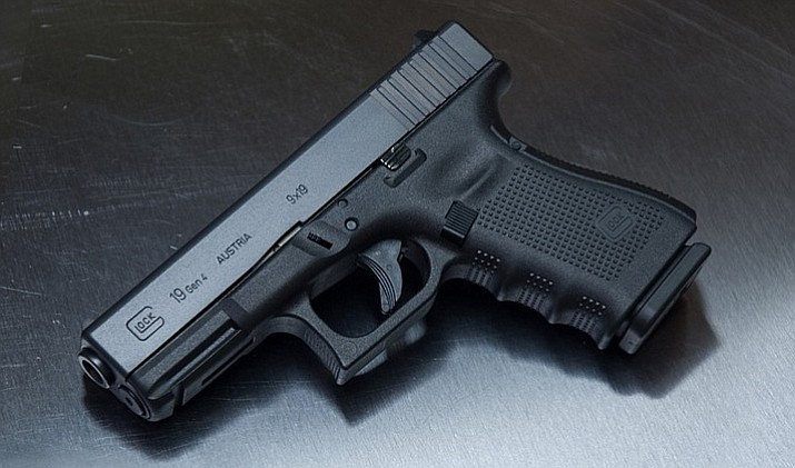 The handgun is described as a Glock 19, 9mm caliber and black in color, serial number YHC 944. (Prescott Valley Police Department)