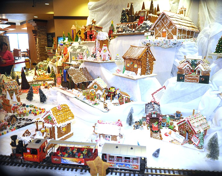 There are more than 70 entries in the annual Gingerbread Holiday display at the Prescott Resort that is open to the public through Jan. 1.