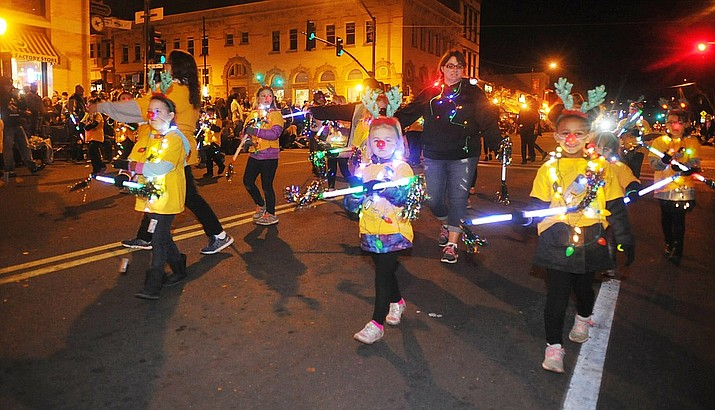 View a photo gallery of highlights from the 22nd Annual Holiday Lights Parade in downtown Prescott held Saturday night, Nov. 25, 2017. (Les Stukenberg/Courier)