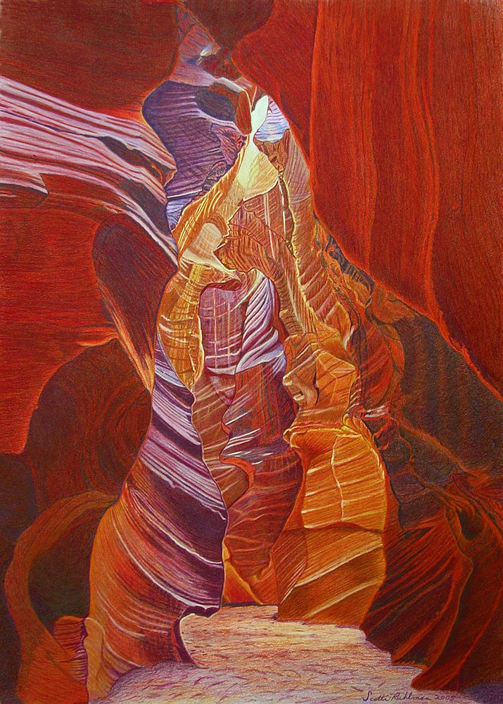 High Noon in Antelope Canyon by Scotti Ruhlman