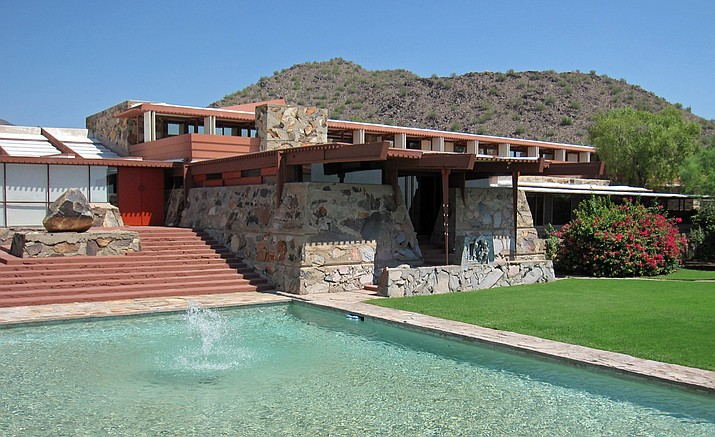 Taliesin West was Frank Lloyd Wright's winter home, and is currently home to his architecture school. It is named after Taliesin, Wright's main home in Wisconsin, where he spent his summers.