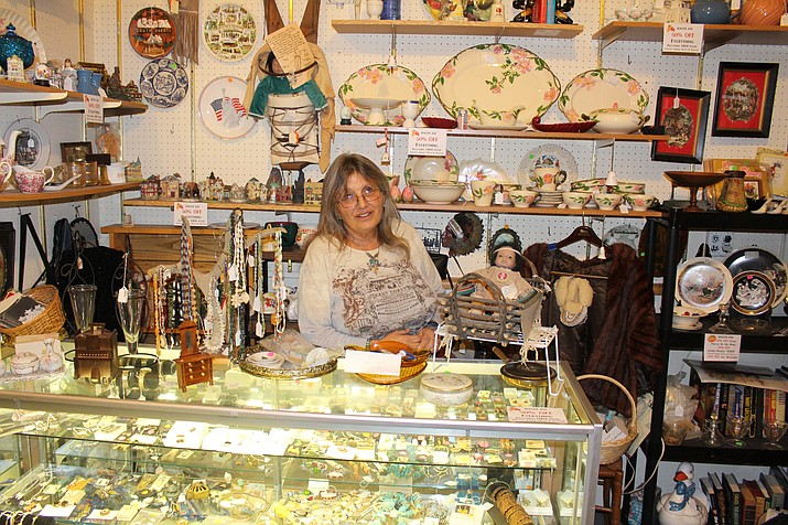 Grace Van Horn set up shop seven years ago at Time Was Antiques in downtown Kingman, selling Indian art, jewelry and glassware. The store had more than 100 customers come through on Shop Small Saturday, which was about double the traffic from a normal Saturday.