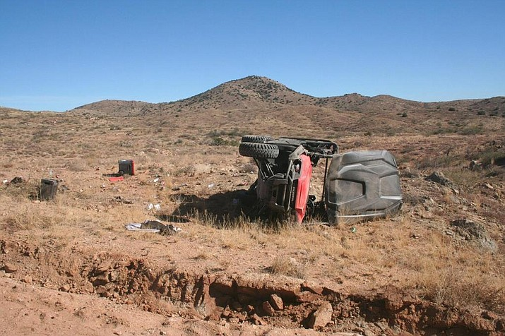 An ATV rollover injured four adults and three children Saturday near Cordes Lakes. (Photo courtesy of YCSO)