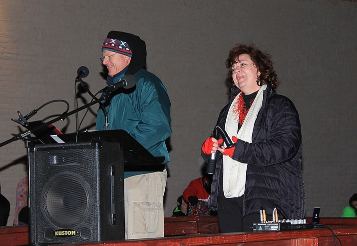 Kerry-Lynn Moede and her husband, John, entertain the crowd at the 2016 winter parade. Kerry-Lynn will sing at the third Advent concert at St. John's Dec. 10.