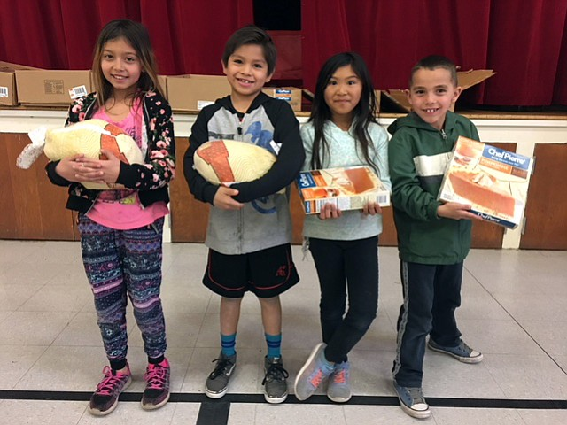 Students from each grade level competed for turkey and pie.