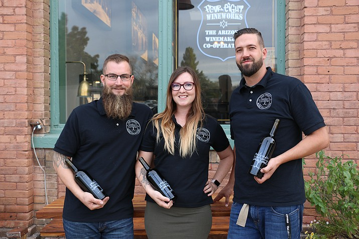 About four years into their friendship and partnership, the trio of YC winemaking program alumni are selling out vintages while making a name for themselves and for their label in the Verde Valley's burgeoning wine industry. (Photo Courtesy of Yavapai College)