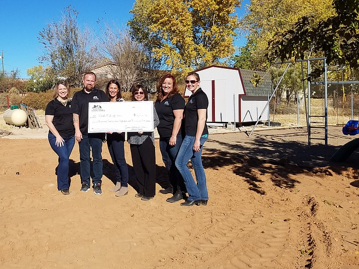 The Sedona Verde Valley Association of Realtors presented Abide Maternity Home a grant check for $2,326.90 to develop a prayer garden for use by the community. (Courtesy Photo)