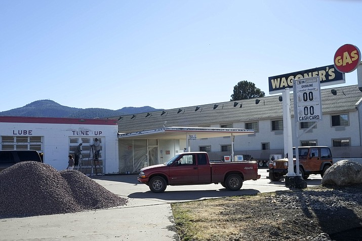Wagoner's Gas Station is located on Route 66 on the west entrance to Williams.