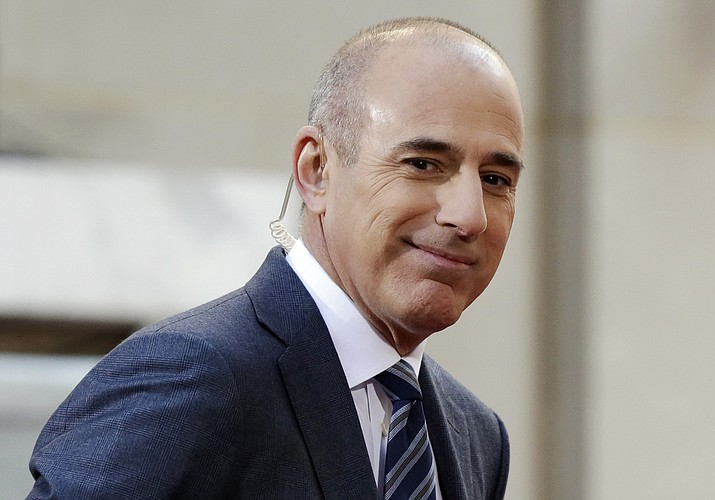 """Matt Lauer, co-host of the NBC """"Today"""" television program, appears on set in Rockefeller Plaza, in New York. NBC News announced Wednesday, Nov. 29, 2017, that Lauer was fired for """"inappropriate sexual behavior."""" (AP Photo/Richard Drew, File)"""