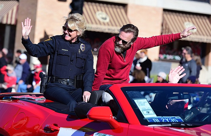 Prescott Police Chief Debora Black announced this week that additional personnel and equipment will be stationed along the parade route and at designated intersections. (2016 Christmas Parade photo by Les Stukenberg/Courier)