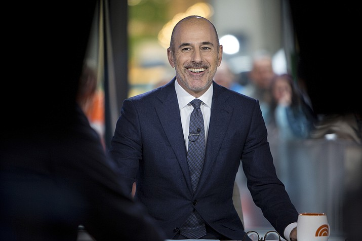 """Matt Lauer during a broadcast of the """"Today,"""" show in New York. NBC News fired the longtime host for """"inappropriate sexual behavior."""" Lauer's co-host Savannah Guthrie made the announcement at the top of Wednesday's """"Today"""" show. ( Zach Pagano/NBC via AP)"""