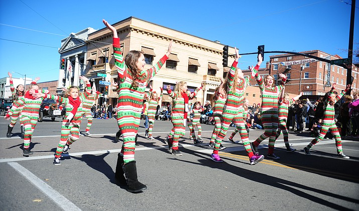 The 34th Annual Prescott Christmas Parade traveled through the downtown area last year. This year's parade is scheduled for Saturday.
