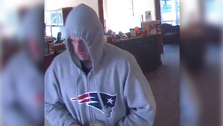 Police say 41-year-old Steven Spolidoro, of Woburn, walked into a Revere bank around 1 p.m. Wednesday, demanded money and fled with about $1,000 cash. (Everett MA Police Department)