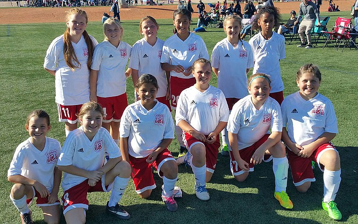 Kingman Soccer Club U11 girls soccer team.