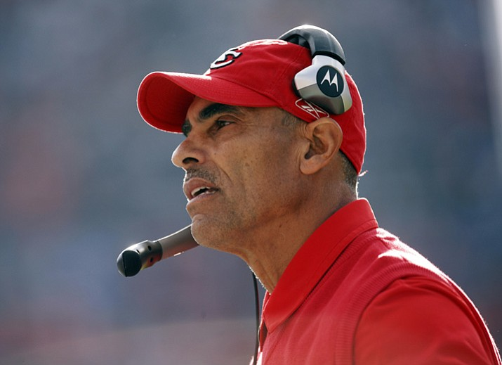 In this Dec. 7, 2008, file photo, Kansas City Chiefs coach Herm Edwards watches the team's game against the Denver Broncos in Denver. (David Zalubowski/AP, File)
