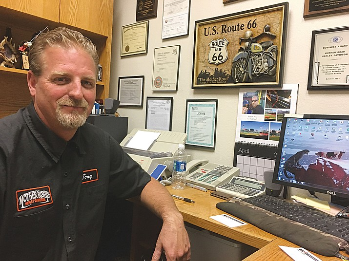 Tony Campbell, general manager of Mother Road Harley-Davidson dealer in Kingman, alongside local car dealer Cody Swanty, has launched a petition to squash an increase in the city's sales tax.