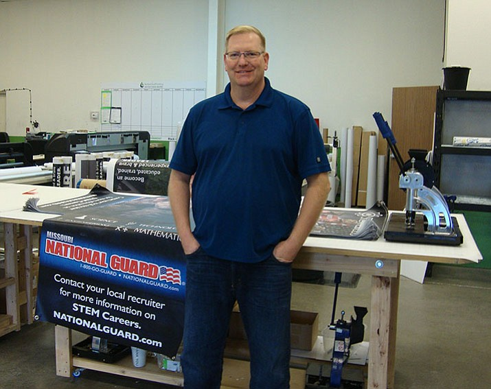 Larry Curell, owner of Better Deal Printing, received business support from SCORE to expand his business. (SCORE)