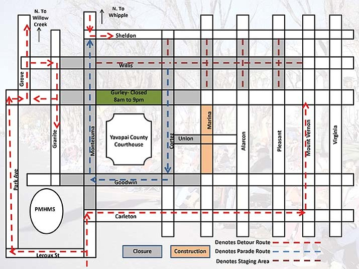 The 35th Annual Prescott Christmas Parade route | The Daily