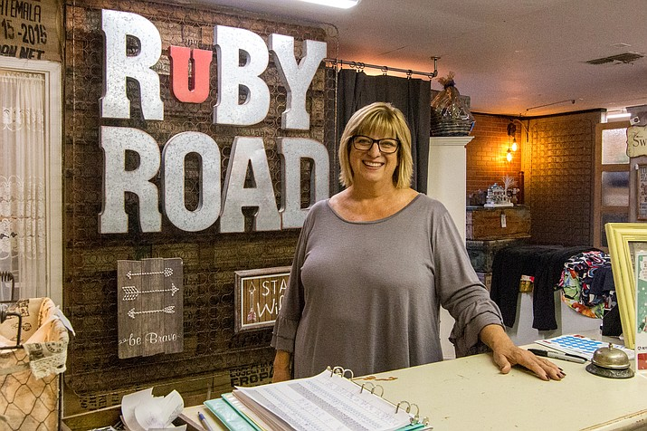 Pam Bridgell, owner of Ruby Road Resale, says free online classes through Yavapai College Small Business Development Center helped her learn how social media can help market her business. Ruby Road Resale Vendor Mall has operated in Camp Verde for over 12 years. VVN/Halie Chavez