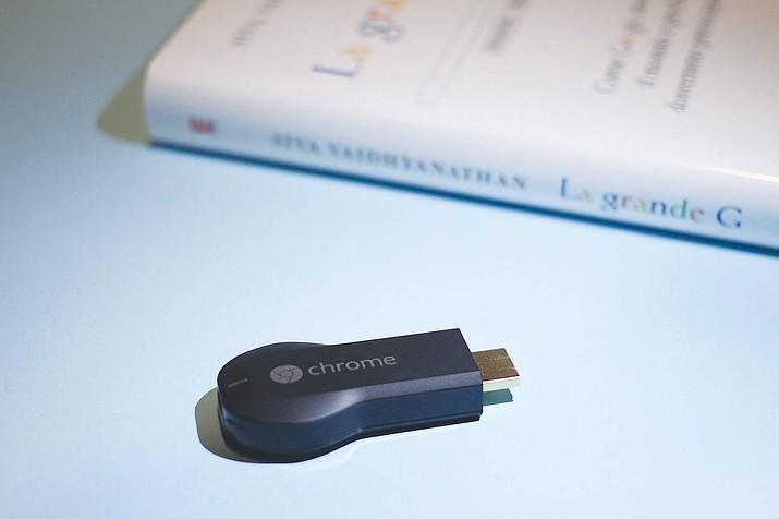 A Google Chromecast.