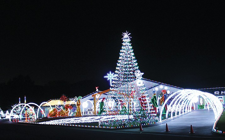 The Preston's Christmas lights display on Shadow Mountain Drive last year. The display was featured on national television.