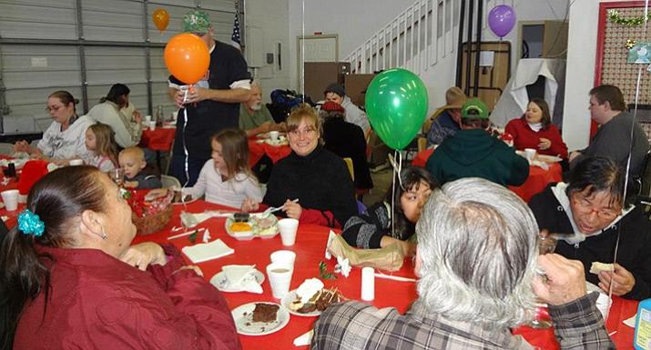 Paulden residents enjoying the 2012 Christmas Dinner. (Terri McPherson/courtesy)