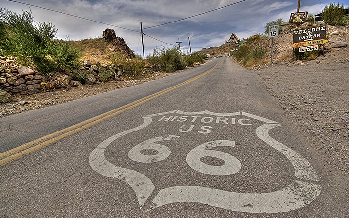 Route 66 once stretched unbroken from Chicago to Santa Monica, California, and reflected the importance of the automobile in 20th century American life. But it was overtaken by the interstate highway system and today only small stretches remain, like this one in Oatman, Arizona.  Photo/Vicente Villamón, Cronkite News
