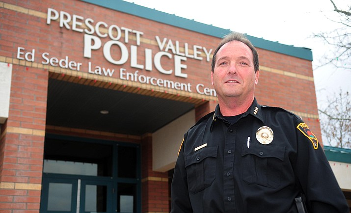 "Prescott Valley Police Chief Bryan Jarrell said he agreed with the decision for a more serious disciplinary action for losing his firearm so that he can continue to ""keep the trust of the people."" (Courier file)"
