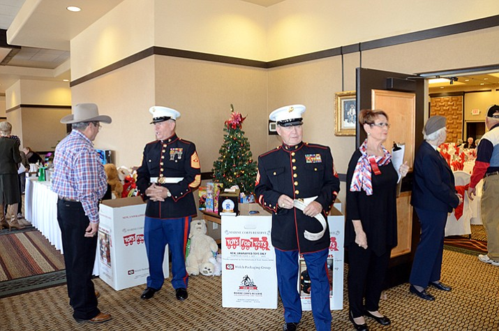 Marine Corp representatives were on hand to collect Toys for Tots at the Republican Women of Prescott's November meeting. (Courtesy)