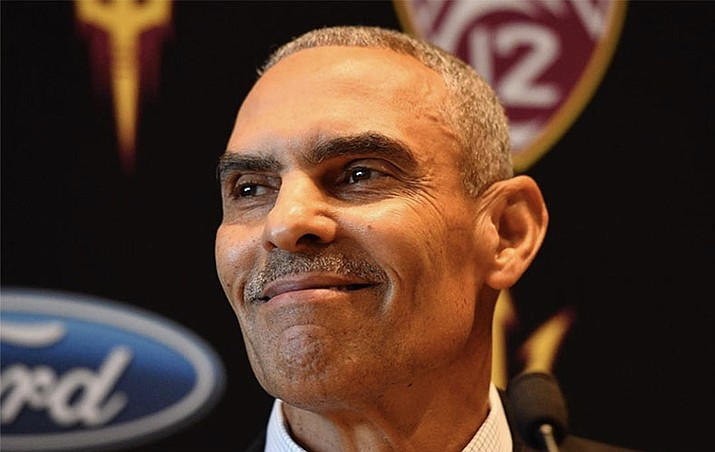 Despite widespread criticism about the hire, Arizona State is confident Herm Edwards can take Arizona State to a new level. He replaces Todd Graham, who was fired. (Photo courtesy Arizona State)