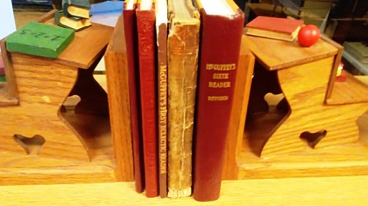 McGuffey Readers on display in the Museum's Library and Archives Reading Room. (Courtesy of author.)