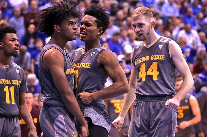The Arizona State Sun Devils cracked the  Associated Press Top 5 after starting the season 9-0 and pulling off an upset of then No. 2 Kansas Sunday.