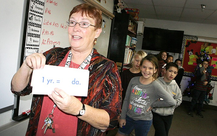 When Peggy White isn't teaching fourth graders at Verde Christian Academy, she can be found writing her blog called Word of the Day. (Photo by Bill Helm)