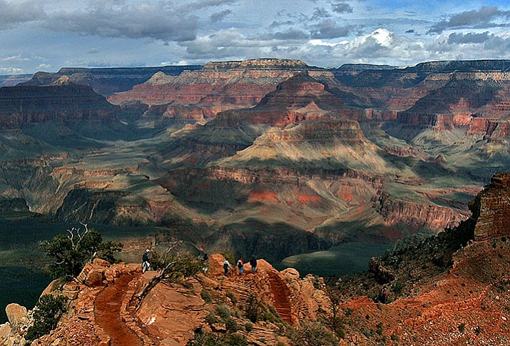 This Feb. 22, 2005, file photo shows the North Rim of Grand Canyon in Arizona. A federal appeals court ruling keeps in place an Obama administration ban on new hard-rock mining claims around the Grand Canyon. (AP Photo/Rick Hossman,File)