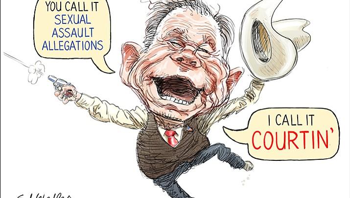 Editorial cartoon (1): Dec. 13, 2017