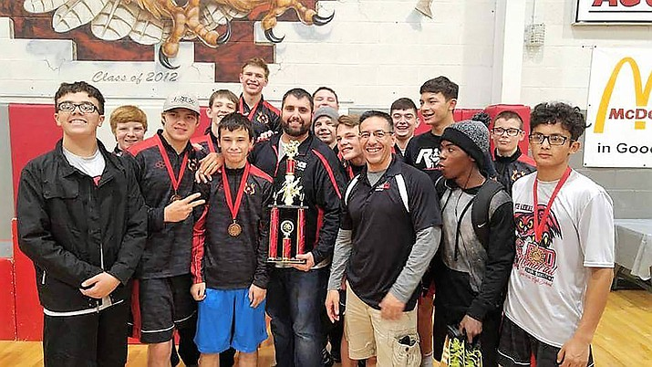 The Lee Williams High School wrestling team won its first tournament trophy over the weekend as it placed second at the Big Red Invite in Agua Fria.