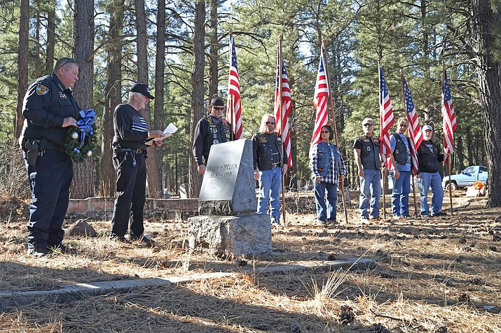 Williams Police Department, Coconino County Sheriff's Office and community members gather at Williams Cemetery Dec. 2 to pay tribute to law enforcement officers killed in the line of duty.