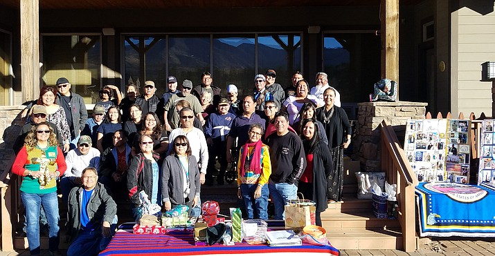 Navajo Hopi Honor Riders gathered for their annual Christmas party Dec. 10 at the home of Percy Piestewa, a Gold Star Mother. Riders enjoyed a Christmas dinner together and completed construction of a wood shed for the Piestewa family. Submitted photo